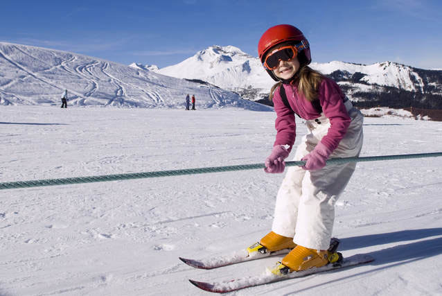 Image of child skiing in Morzine winter