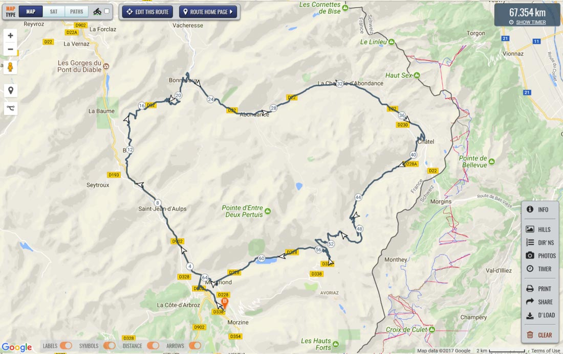 Image of route map for Col de Bassacheux