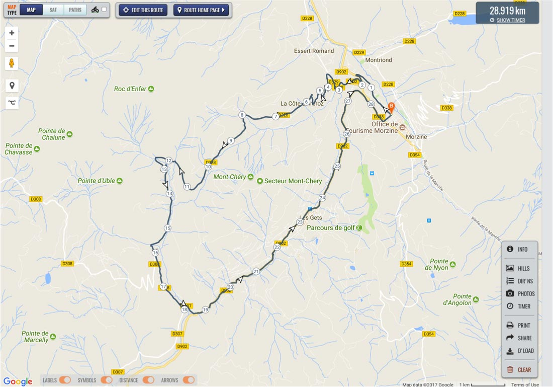 Image of road map for Col de l'Encranez