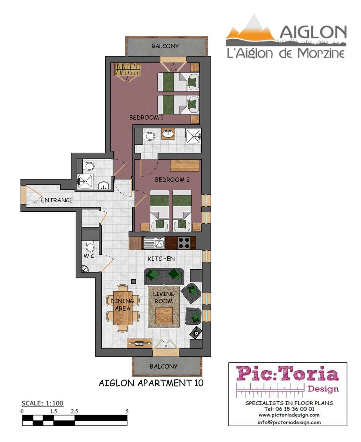 Image of Morzine 2 Bedroom Apartment, floor plan #10