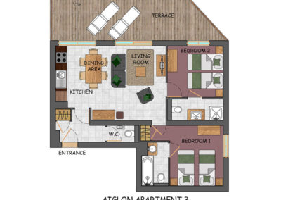Floor plan for apartment 3