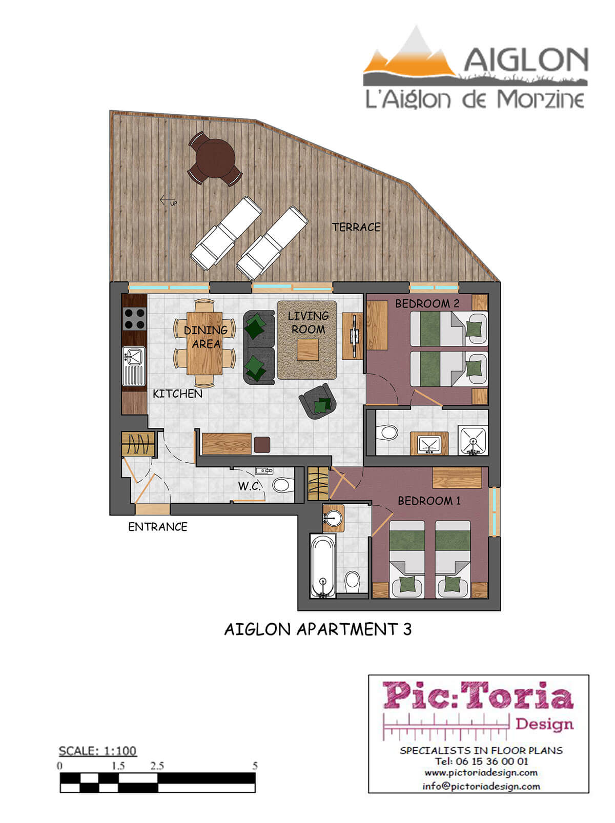 Image of Aiglon Image of Morzine Self Catered Apartment #3 floor plan