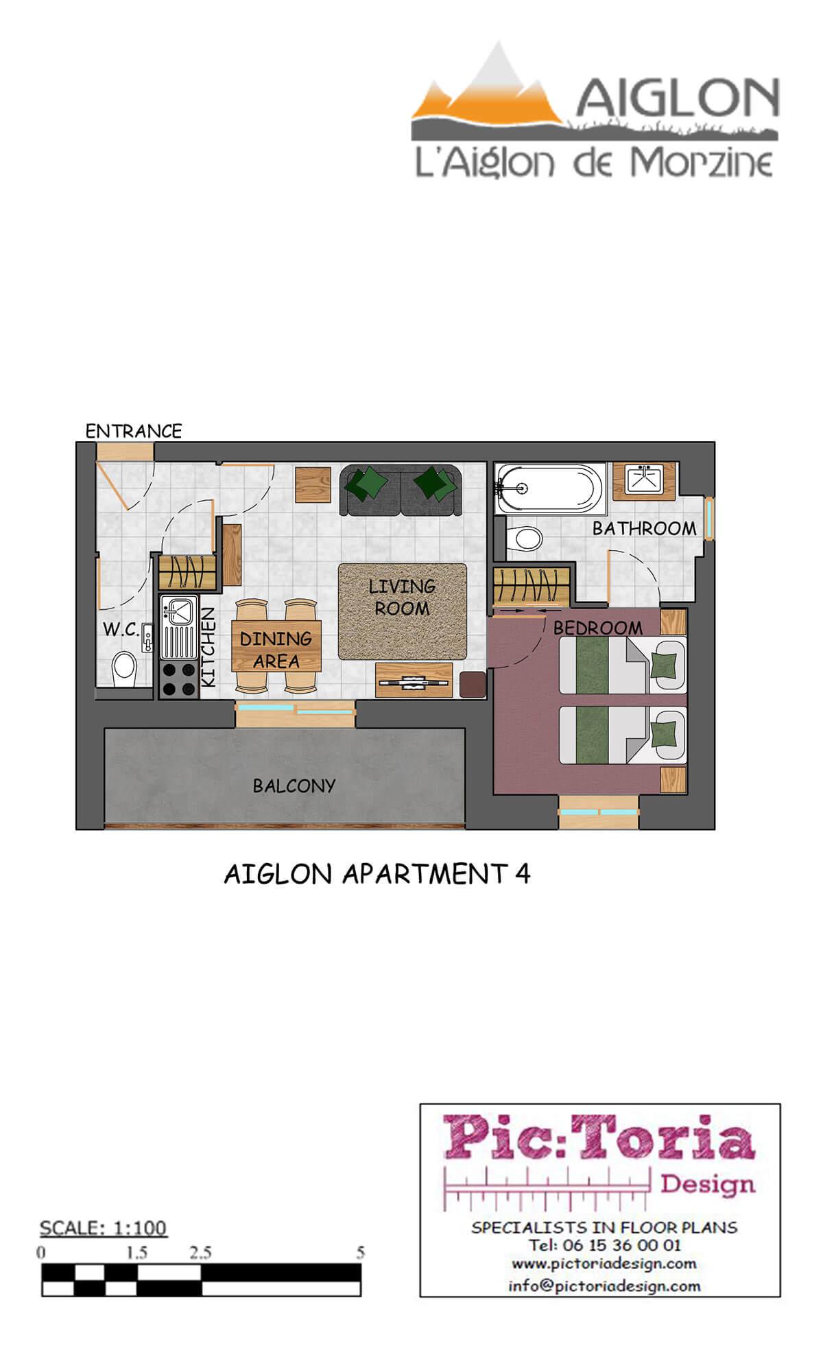 Image of Aiglon Morzine apartment floor 4 plan