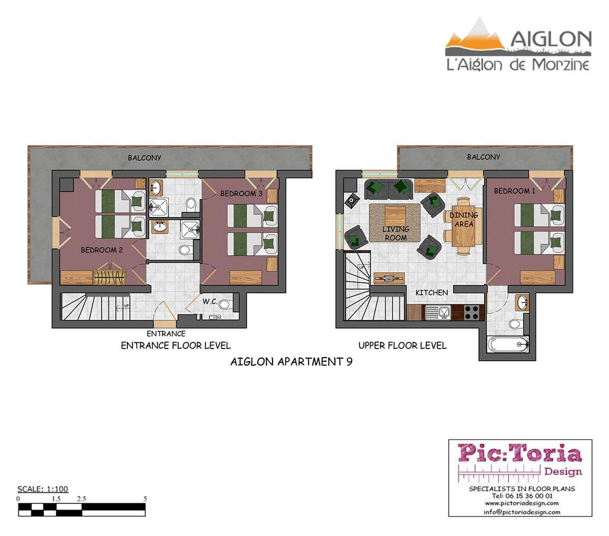 Image of Morzine 3 Bedroom Apartment, floor plan #9