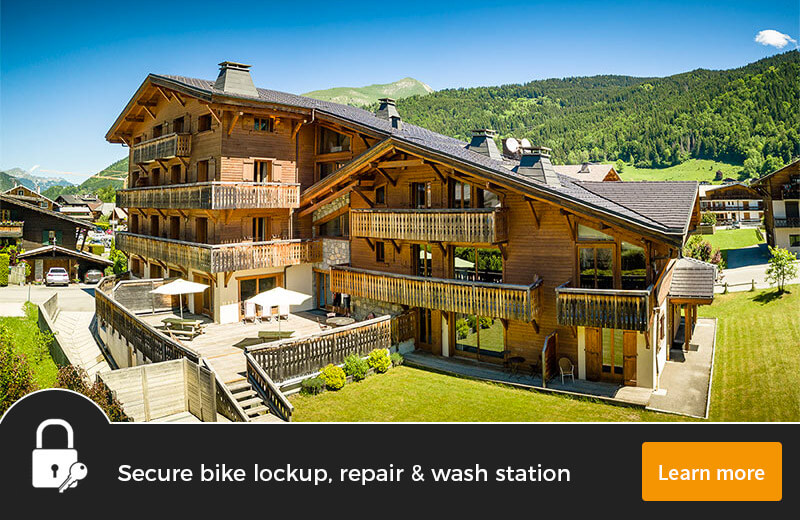 Image of Aiglon Morzine building in with Morzine mountains