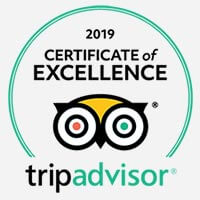 Image of Trip Advisor certificate of excellence 2019 logo
