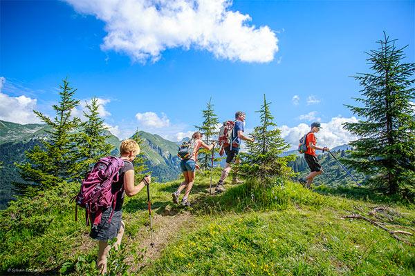 Image of Morzine alpine walking family